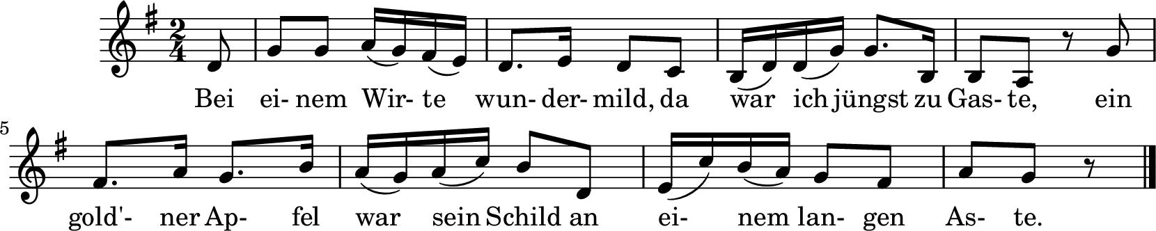 Notenblatt Music Sheet Einkehr