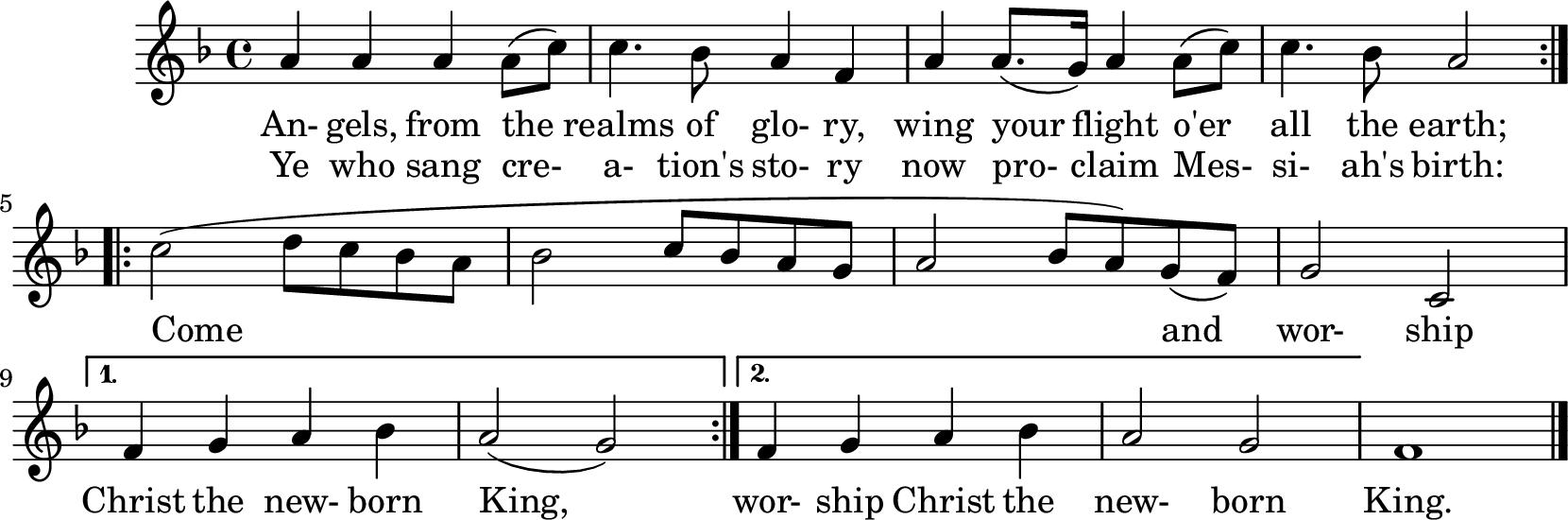 Notenblatt Music Sheet Engel lassen laut erschallen