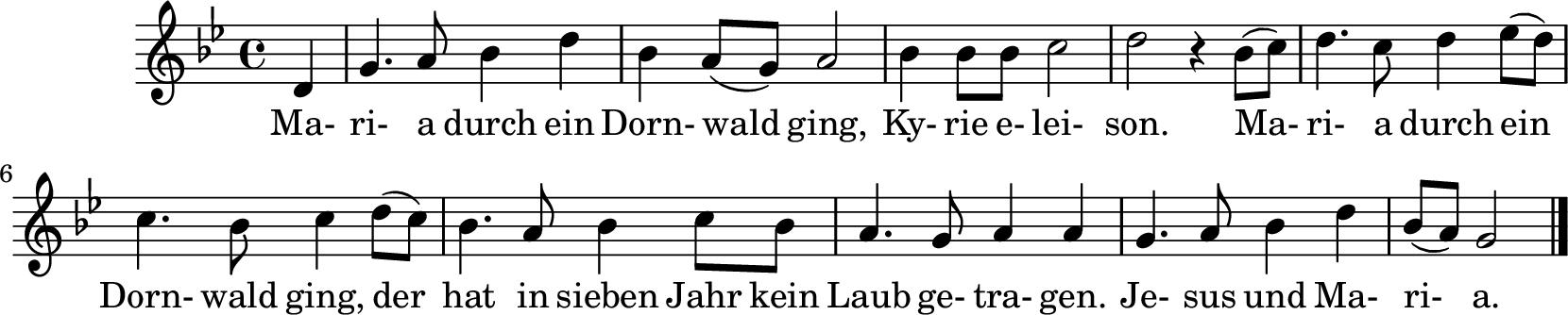 Notenblatt Music Sheet Maria durch den Dornwald ging