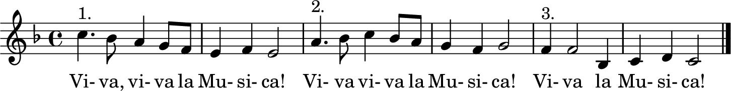 Notenblatt Music Sheet Viva la musica